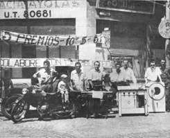 Exhibición de los premios de la rifa, 1956