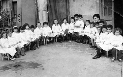 Jardín de infantes provisoriamente instalado en inmueble alquilado, 1960